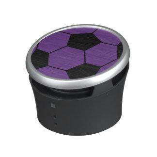 Moderiktig purpurfärgad fotbollbollhögtalare speaker
