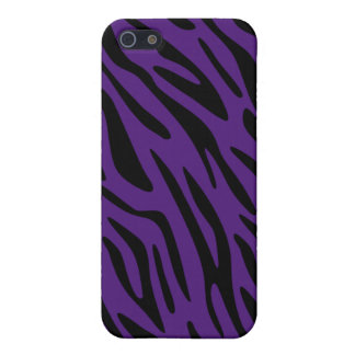 Moderiktig purpurfärgad zebra tryckiphone case iPhone 5 cover