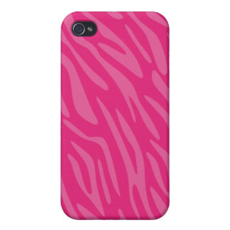 Moderiktig rosa zebra tryckiphone case iPhone 4 fodral