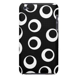 Moderiktig svartvit retro design iPod touch case
