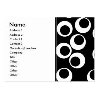 Moderiktig svartvit retro design set av breda visitkort