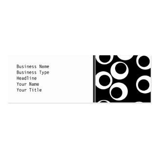 Moderiktig svartvit retro design visitkort mallar