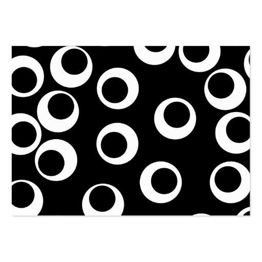 Moderiktig svartvit retro design visitkort mall
