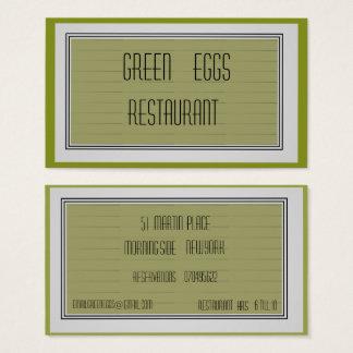 Moderiktig visitkort för Mossgrönt>Professional
