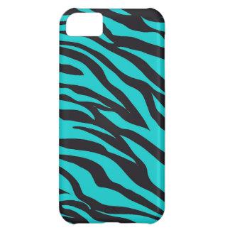 Moderiktig zebra ränder för krickaturkossvart iPhone 5C fodral