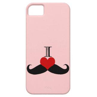 Moderiktiga rosor älskar jag mustaschiphone case iPhone 5 fodral