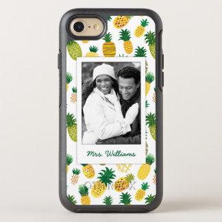 Moderiktigt ananasmönster | tillfogar ditt foto & OtterBox symmetry iPhone 7 skal