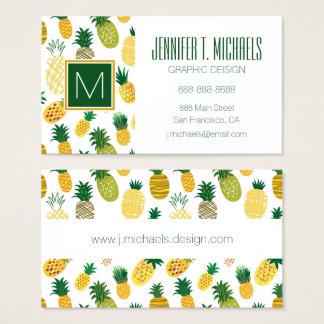 Moderiktigt ananasmönster visitkort