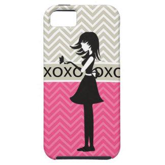 Moderiktigt för sparreflicka för chic XOXO fodral iPhone 5 Fodraler