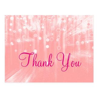 Moderiktigt Inexpensiv rosa glamoröst modernt tack Vykort