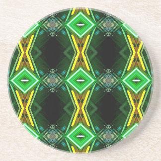 Moderiktigt stam- mönster för grönt gult neon underlägg sandsten