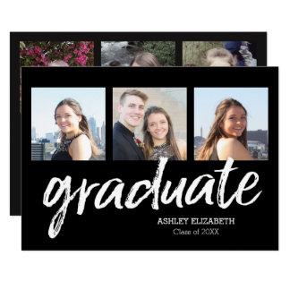 Moderiktigt studentenmeddelande för 6 foto 12,7 x 17,8 cm inbjudningskort