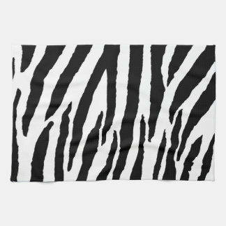 Moderiktigt svartvitt zebra mönstrad kökshandduk