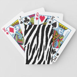 Moderiktigt svartvitt zebra mönstrad spelkort