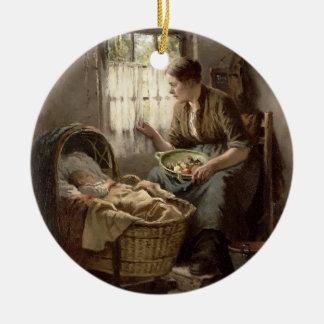 Moderlig affektion (olja på kanfas) juldekoration