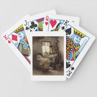 Moderlig affektion (olja på kanfas) spelkort