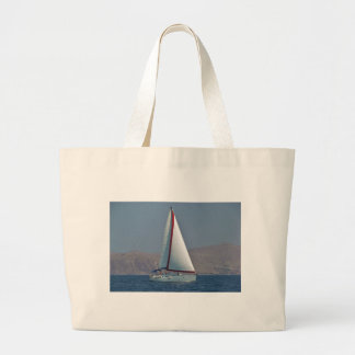Modern 47 fot yacht tote bags