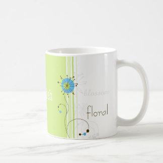 Modern abstrakt blom- design - mugg