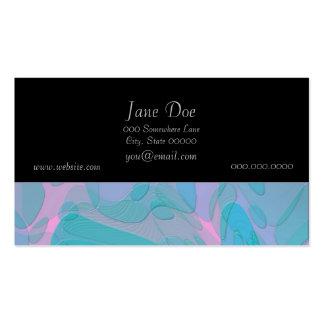 Modern abstrakt design i deppighet och Pinks Set Av Standard Visitkort