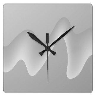 Modern abstrakt design i ljust - grått. fyrkantig klocka