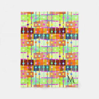 Modern abstrakt färgrik mönsterullfilt fleecefilt