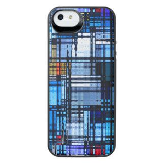 Modern abstrakt för mitt- århundrade iPhone SE/5/5s batteri skal