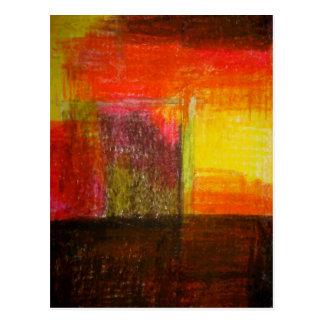 Modern abstrakt konst vykort