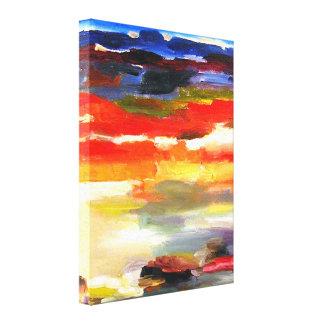 Modern abstrakt landskap konstmålning canvastryck