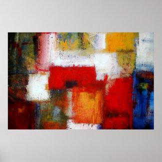 Modern abstrakt målningkonst skrivar ut affischer