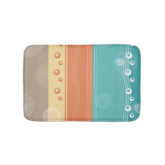 Modern abstrakt nautisk sommardesign badrumsmatta