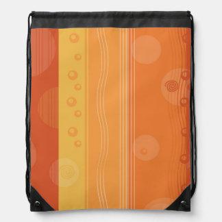 Modern abstrakt orange randdesign gympapåse