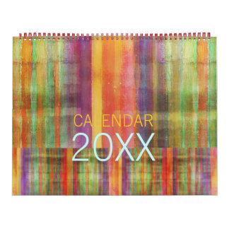 Modern abstrakt samtida konstkalender kalender