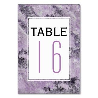 Modern amethyst purpurfärgad gifta sig bordsnummer