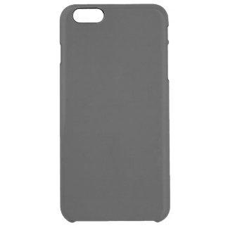 Modern anpassadekolsvart clear iPhone 6 plus skal