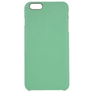 Modern anpassadesmaragdgrönt clear iPhone 6 plus skal