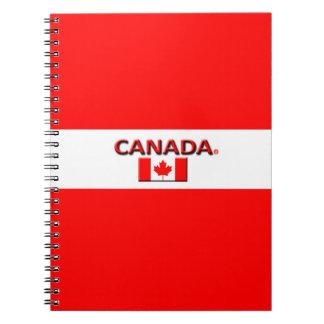 Modern anteckningsbok för Kanada flaggafärger