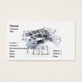 Modern arkitektur visitkort