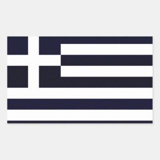 Modern avriven grekisk flagga rektangelformat klistermärke