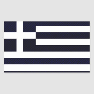 Modern avriven grekisk flagga rektangulärt klistermärke