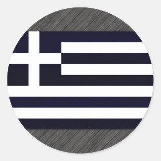 Modern avriven grekisk flagga runt klistermärke