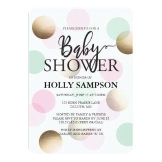 Modern baby showerinbjudan 12,7 x 17,8 cm inbjudningskort