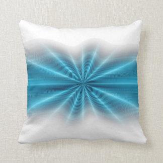 Modern blått- och vitbravibes kudde