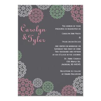 Modern blom- bröllopinbjudan för rosor och för 12,7 x 17,8 cm inbjudningskort