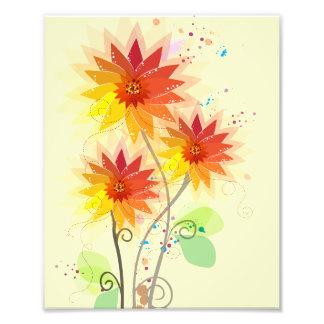 Modern blom- illustration fototryck