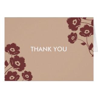 Modern blom- tackkort OBS kort