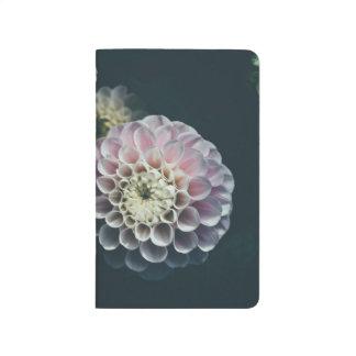 Modern blommigt raster-fodrad kuljournal anteckningsbok