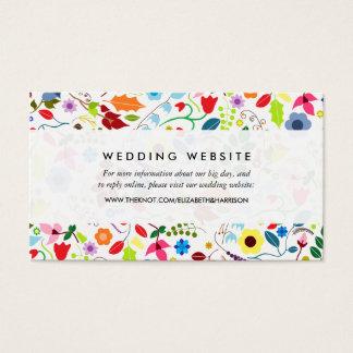 Modern Boho chic blom- bröllopWebsite Visitkort
