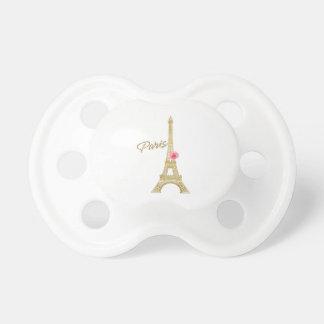 Modern chic för för Paris guld- Eiffel torn & rosa Napp