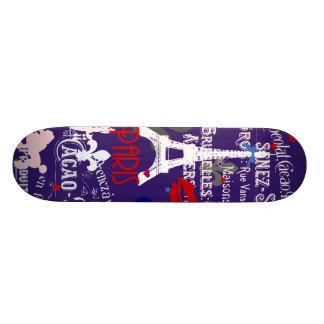 Modern collage för Paris fransksvart Mini Skateboard Bräda 18,7 Cm