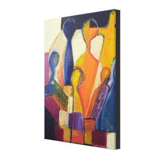Modern Cubismfigurabstrakt Canvastryck